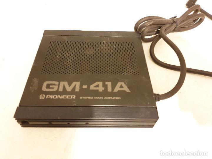 AMPLIFICADOR PARA AUTORRADIOS PIONEER GM-41A (Radios, Gramófonos, Grabadoras y Otros - Transistores, Pick-ups y Otros)