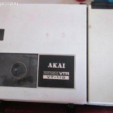 Radios antiguas: AKAI VT-110 PORTABLE VTR - VIDEO GRABADORA - CON ADAPTADOR - AÑOS 60. VER FOTOS Y DESCRIPCIÓN.. Lote 199070570
