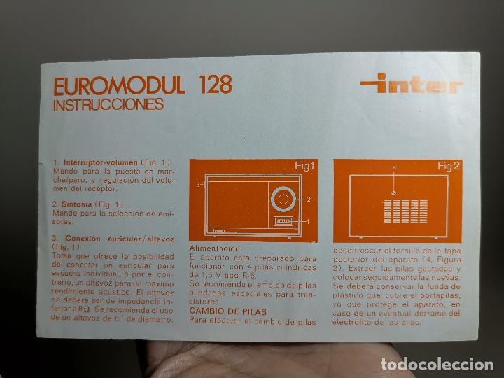 FOLLETO PUBLICITARIO RADIO INTER EUROMODUL 128----15 X 10 (Radios, Gramófonos, Grabadoras y Otros - Transistores, Pick-ups y Otros)