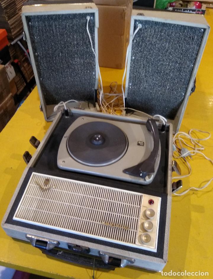 MALETÍN TOCADISCOS IBERIA - STEREO - VINTAGE AÑOS 50 / 60 (Radios, Gramófonos, Grabadoras y Otros - Transistores, Pick-ups y Otros)