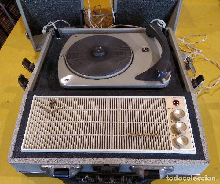 Radios antiguas: MALETÍN TOCADISCOS IBERIA - Stereo - Vintage años 50 / 60 - Foto 2 - 200053248