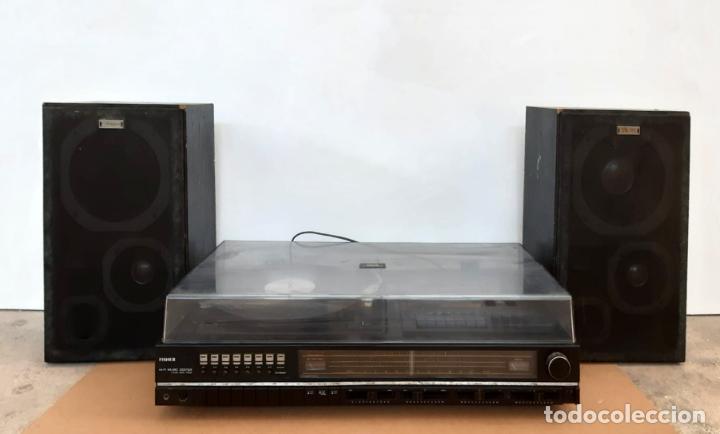TOCADISCOS FISHER MCE-4025 Y ALTAVOCES SME-160. AÑOS 70 (Radios, Gramófonos, Grabadoras y Otros - Transistores, Pick-ups y Otros)