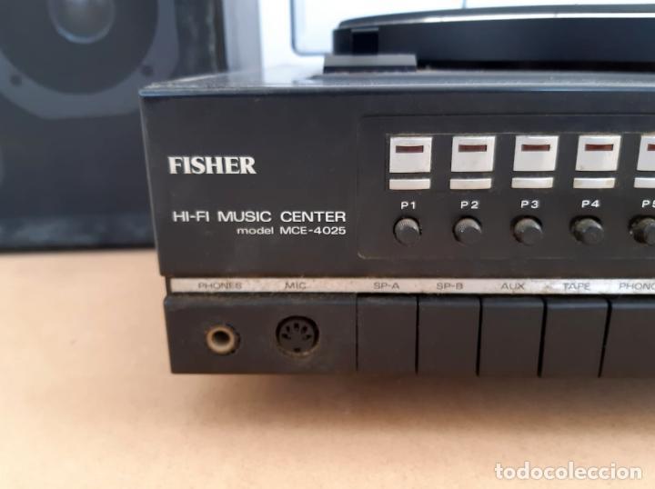 Radios antiguas: TOCADISCOS FISHER MCE-4025 Y ALTAVOCES SME-160. AÑOS 70 - Foto 5 - 200099313