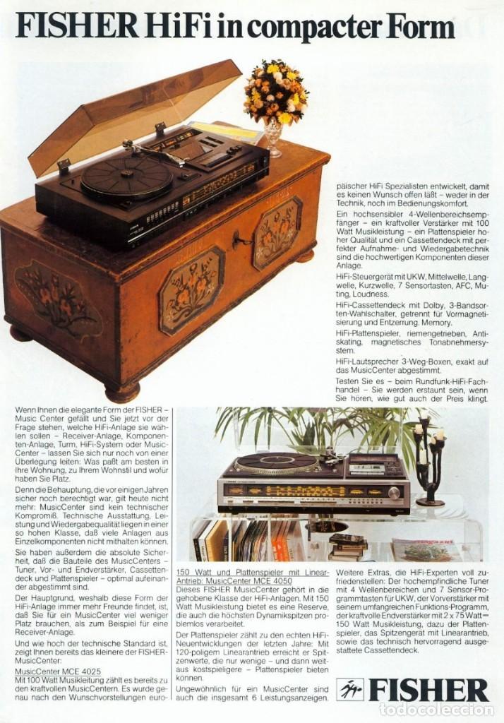 Radios antiguas: TOCADISCOS FISHER MCE-4025 Y ALTAVOCES SME-160. AÑOS 70 - Foto 9 - 200099313