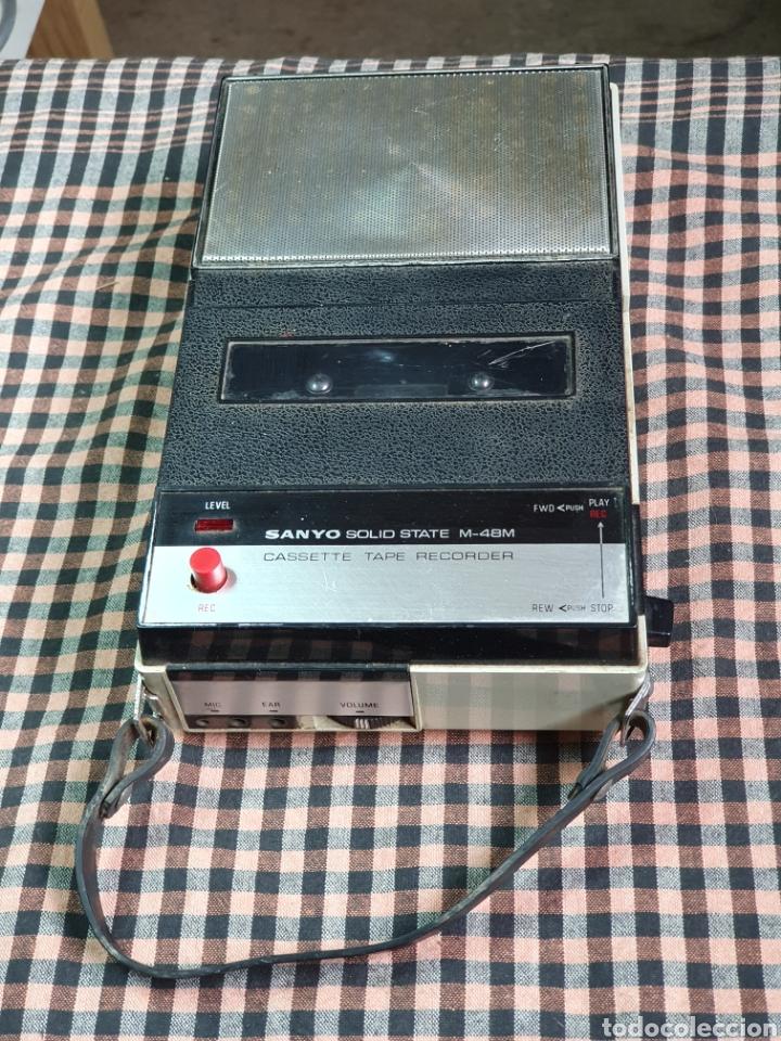 CASSETTE SANTO M-48 M, TAPE RECORRER, LO QUE MUESTRAN LAS FOTOGRAFÍAS. (Radios, Gramófonos, Grabadoras y Otros - Transistores, Pick-ups y Otros)