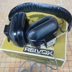 Radios Anciennes: AURICULARES ANTIGUOS MODELO REIVOX AIRE RETRO VINTAGE. CASCOS AJUSTABLES. SIN USO EN CAJA ORIGINAL. Lote 202364131