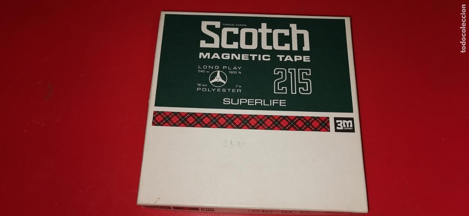 SCOTCH MAGNETIC TAPE 215 LONG PLAY 3M COMPANY (Radios, Gramófonos, Grabadoras y Otros - Transistores, Pick-ups y Otros)