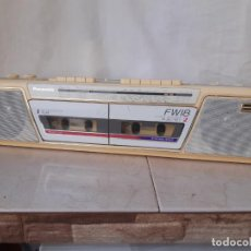 Radios antiguas: RADIO CASETE DOBLE PANASONIC FW18. AUTOMATIC LEVEL CONTROL PLAY/REC 2. FUNCIONANDO.. Lote 219103932