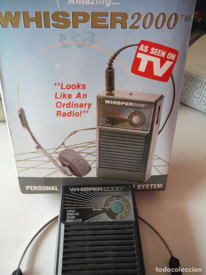 Radios antiguas: RADIO CASCOS AURICULARES WHISPER 2000 - Foto 4 - 203823517
