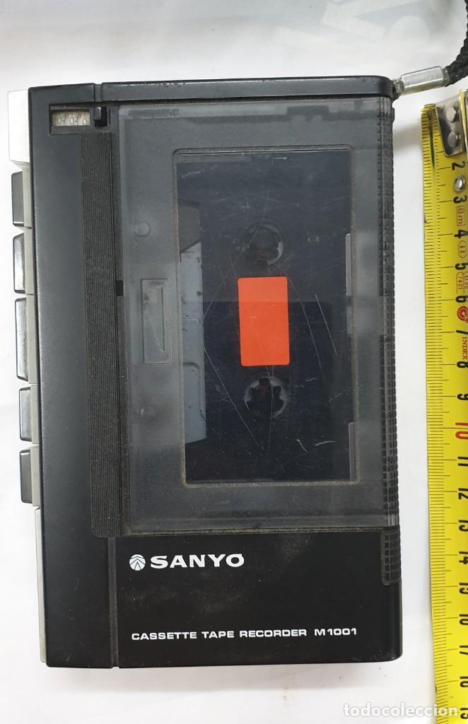 GRABADORA SANYO M1001 FUNCIONA (Radios, Gramófonos, Grabadoras y Otros - Transistores, Pick-ups y Otros)