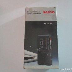 Radios antiguas: MICRO CASSETTE RECORDER TRC 550M SANYO FUNCIONA PERFECTAMENTE. Lote 204225196