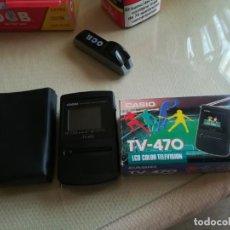 Radios antiguas: MINI TV CASIO 470 EN CAJA FUNCIONA MIREN FOTOS. Lote 204682853