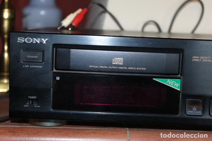 Radios antiguas: REPRODUCTOR CD MARCA SONY MODELO CDP711 CON MANDO A DISTANCIA - Foto 2 - 204796537