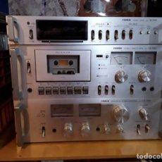 Radios antiguas: AMPLIFICADOR FISCHER CA 7000 + AUDIO TIMER TR 7000 + CASSETTE CR 7000. Lote 204827710