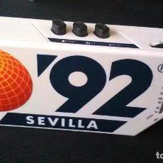 Radios antiguas: RADIO CASETE, EXPOSICIÓN SEVILLA 1992 (NO FUNCIONA). Lote 205408373