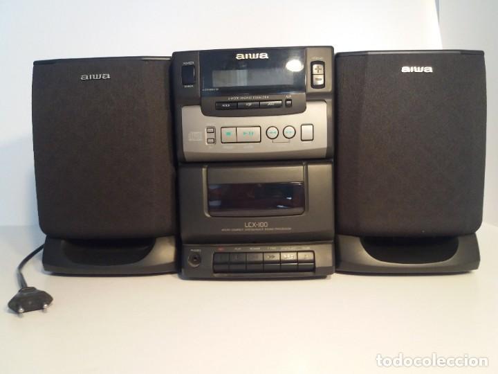 Radios antiguas: FANTÁSTICA MINI CADENA AIWA LCX-100 Y SUS DOS BAFLES - Foto 2 - 206370862