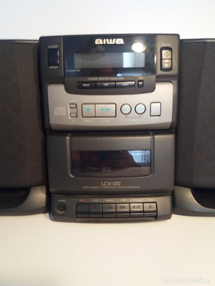 Radios antiguas: FANTÁSTICA MINI CADENA AIWA LCX-100 Y SUS DOS BAFLES - Foto 3 - 206370862