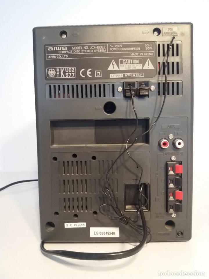 Radios antiguas: FANTÁSTICA MINI CADENA AIWA LCX-100 Y SUS DOS BAFLES - Foto 5 - 206370862