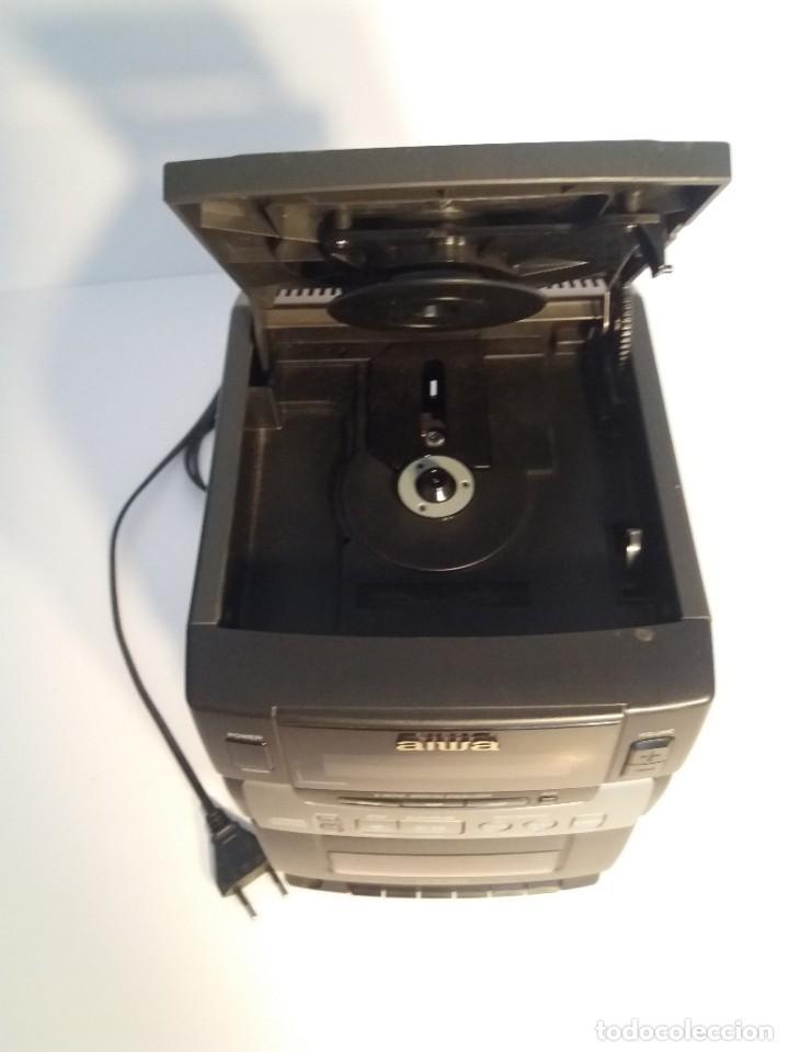 Radios antiguas: FANTÁSTICA MINI CADENA AIWA LCX-100 Y SUS DOS BAFLES - Foto 6 - 206370862