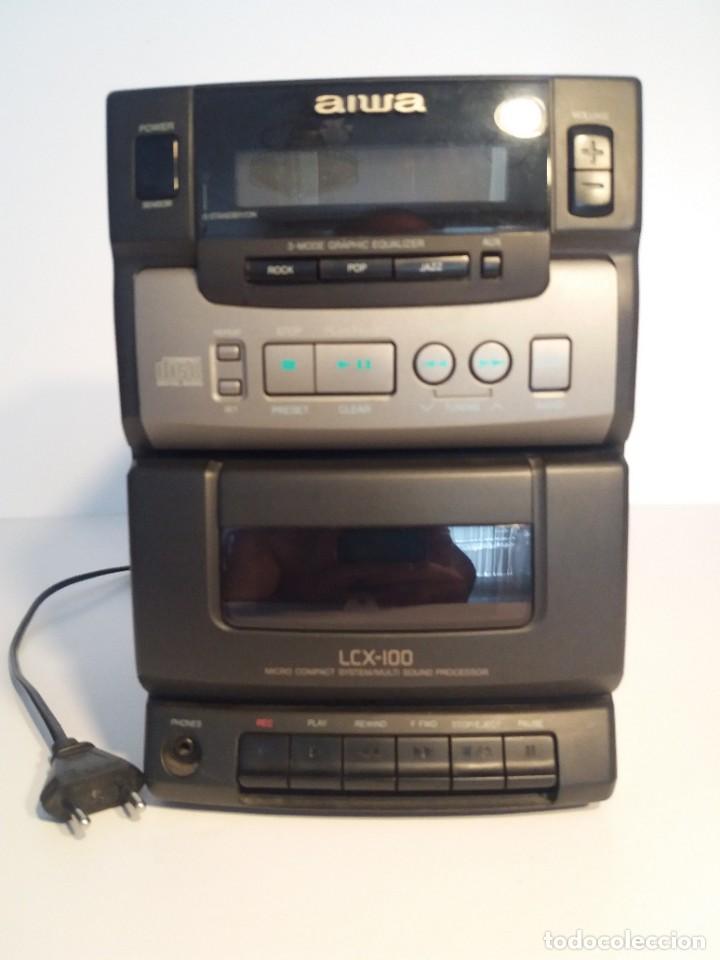 Radios antiguas: FANTÁSTICA MINI CADENA AIWA LCX-100 Y SUS DOS BAFLES - Foto 7 - 206370862