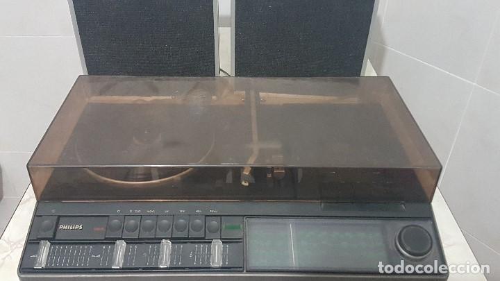 Radios antiguas: TOCADISCOS RADIO-CASSETTE PHILIPS 960 CON SUS ALTAVOCES ORIGINALES - FUNCIONANDO MUY BIEN - Foto 4 - 206388023