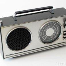Radios antiguas: RADIO TRANSISTOR MARCA INTER, EUROMODUL 118 /B. ORIGINAL, AÑOS 70. NO HE PROBADO SU FUNCIONAMIENTO. Lote 206946928