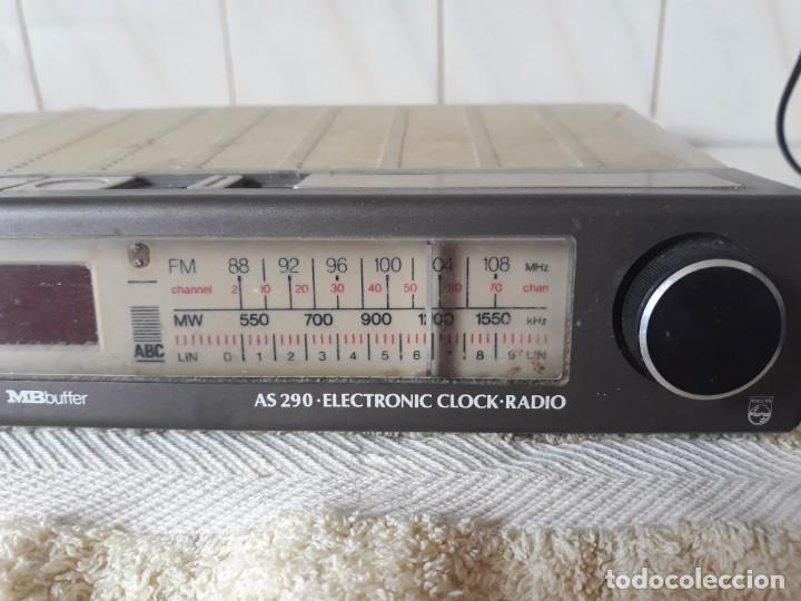 Radios antiguas: ANTIGUO RADIO RELOJ PHILIPS - Foto 3 - 206992878