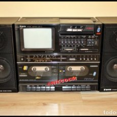 Radios antiguas: TENSAI (YORK) ANTIGUA BOOMBOX TV RADIO TRIPLE TAPE DECK REMOVABLE CASSETTE 1987. Lote 207062741