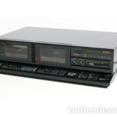 Radios antiguas: AIWA STEREO DOUBLE CASSETTE DECK (1989) AIWA AD-WX180, DOLBY, JAPAN ORG.. Lote 209114630