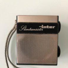 Radios antiguas: TRANSISTOR INTER SLIMTRANSISTOR. Lote 209401456
