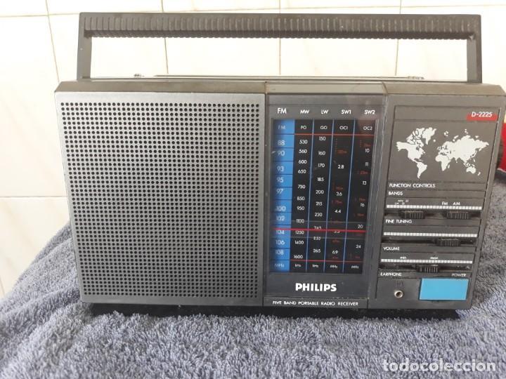 RADIO PHILIPS D-2225 5 BANDAS (Radios, Gramófonos, Grabadoras y Otros - Transistores, Pick-ups y Otros)