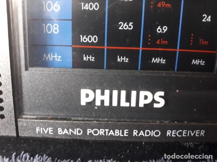 Radios antiguas: Radio Philips D-2225 5 Bandas - Foto 3 - 209848208