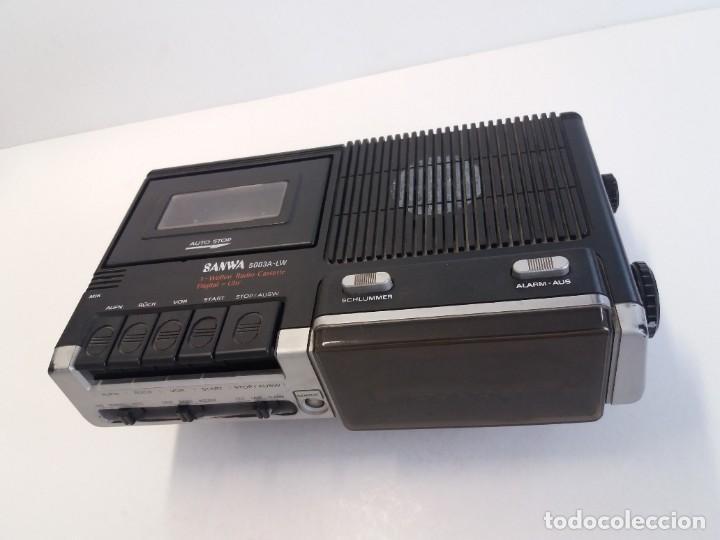 Radios antiguas: BUEN RADIO CASSETTE CASETTE SAMWA 50003A-LW AÑOS 80´S ANTIGUO CASETE ALEMAN - Foto 3 - 209963168