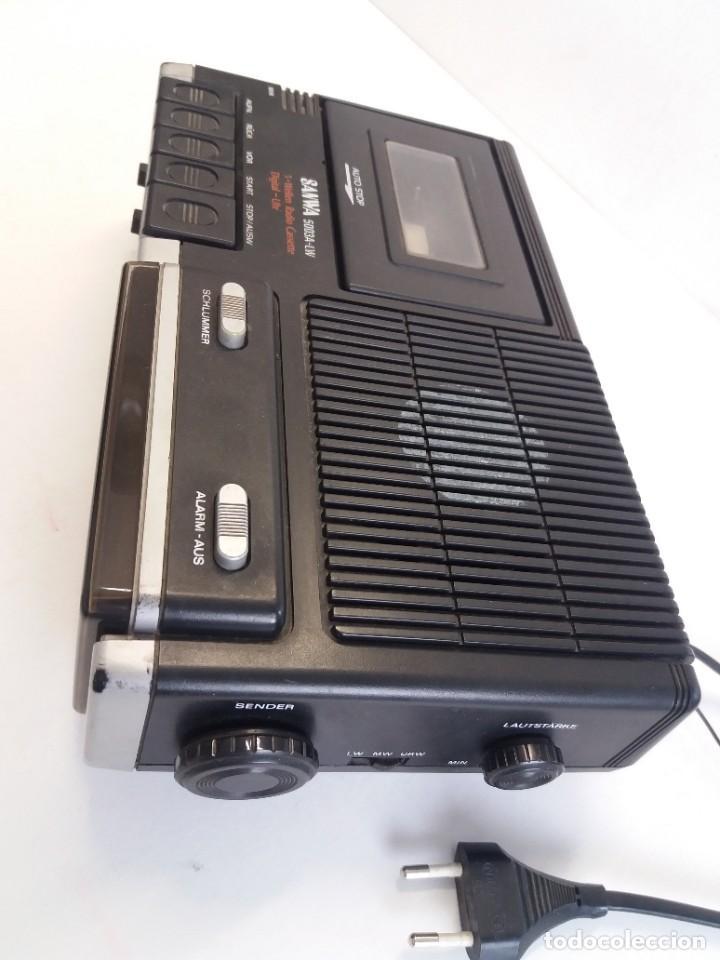 Radios antiguas: BUEN RADIO CASSETTE CASETTE SAMWA 50003A-LW AÑOS 80´S ANTIGUO CASETE ALEMAN - Foto 4 - 209963168