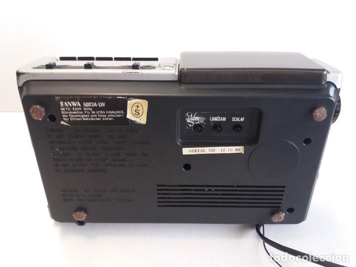 Radios antiguas: BUEN RADIO CASSETTE CASETTE SAMWA 50003A-LW AÑOS 80´S ANTIGUO CASETE ALEMAN - Foto 10 - 209963168