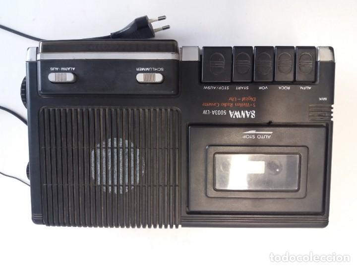 Radios antiguas: BUEN RADIO CASSETTE CASETTE SAMWA 50003A-LW AÑOS 80´S ANTIGUO CASETE ALEMAN - Foto 12 - 209963168