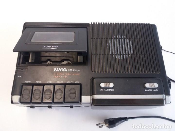 Radios antiguas: BUEN RADIO CASSETTE CASETTE SAMWA 50003A-LW AÑOS 80´S ANTIGUO CASETE ALEMAN - Foto 13 - 209963168