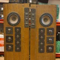 Radios antiguas: PAREJA DE ALTAVOCES. HECO LAB2. CAJA DE MADERA. 40-200 W. ALEMANIA. 1985.. Lote 210166565