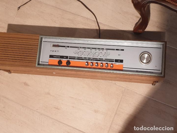 """Radios antiguas: RADIO VINTAGE MARCA """"EUROPHON"""" MODELO 723 T. - Foto 4 - 210520086"""