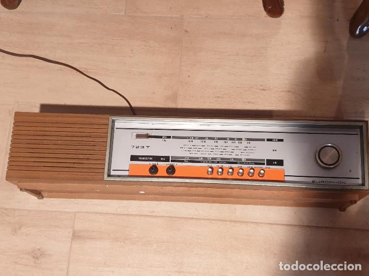 """Radios antiguas: RADIO VINTAGE MARCA """"EUROPHON"""" MODELO 723 T. - Foto 5 - 210520086"""