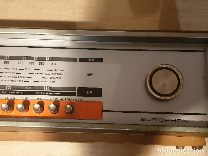 """Radios antiguas: RADIO VINTAGE MARCA """"EUROPHON"""" MODELO 723 T. - Foto 11 - 210520086"""