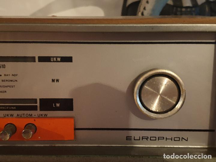 """Radios antiguas: RADIO VINTAGE MARCA """"EUROPHON"""" MODELO 723 T. - Foto 10 - 210520086"""