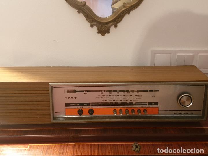 """RADIO VINTAGE MARCA """"EUROPHON"""" MODELO 723 T. (Radios, Gramófonos, Grabadoras y Otros - Transistores, Pick-ups y Otros)"""