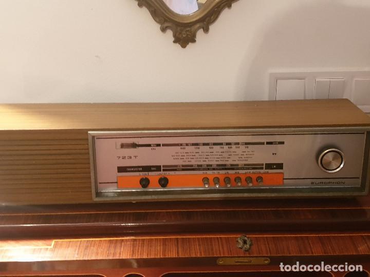"""Radios antiguas: RADIO VINTAGE MARCA """"EUROPHON"""" MODELO 723 T. - Foto 2 - 210520086"""