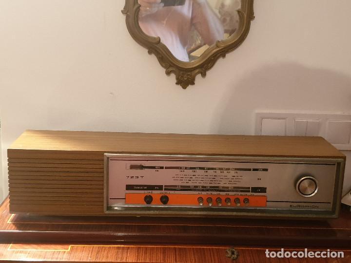 """Radios antiguas: RADIO VINTAGE MARCA """"EUROPHON"""" MODELO 723 T. - Foto 3 - 210520086"""