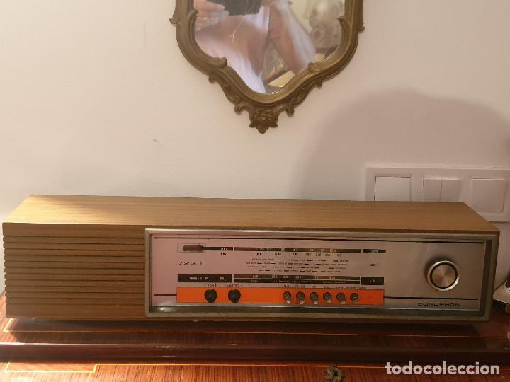 """Radios antiguas: RADIO VINTAGE MARCA """"EUROPHON"""" MODELO 723 T. - Foto 12 - 210520086"""