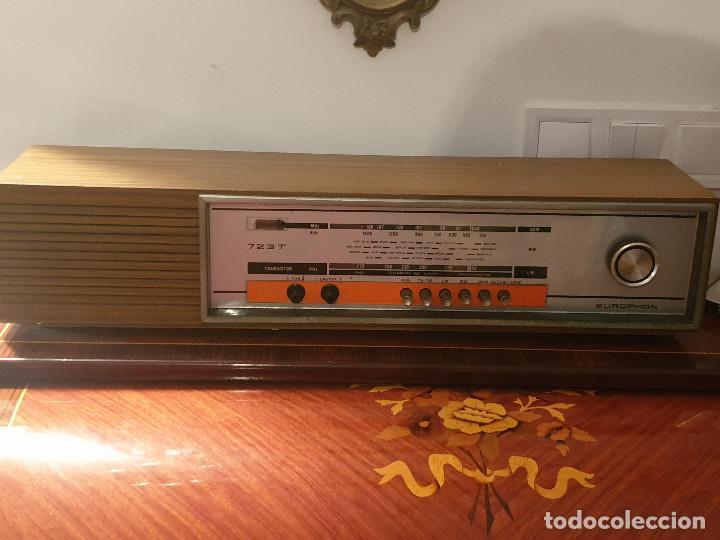 """Radios antiguas: RADIO VINTAGE MARCA """"EUROPHON"""" MODELO 723 T. - Foto 13 - 210520086"""