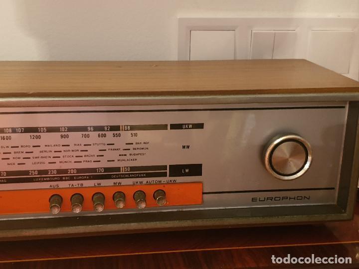 """Radios antiguas: RADIO VINTAGE MARCA """"EUROPHON"""" MODELO 723 T. - Foto 16 - 210520086"""