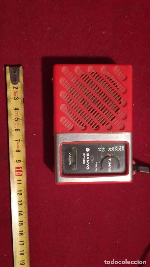 RADIO TRANSISTOR SANYO 1280 FUNCIONA (Radios, Gramófonos, Grabadoras y Otros - Transistores, Pick-ups y Otros)