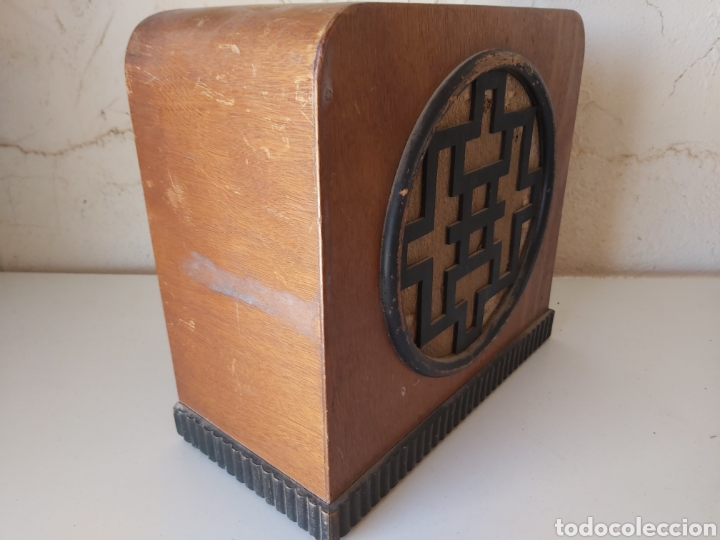 Radios antiguas: ANTIGUO ALTAVOZ DE MADERA - Foto 3 - 212104268